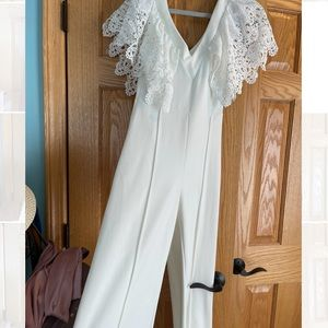 White jumpsuit!!